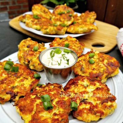 Best Low Carb Cheesy Chicken Fritters