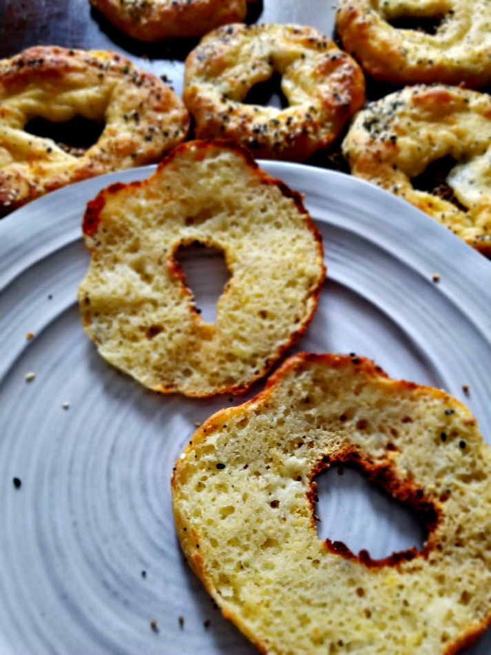 Best Keto Low Carb Bagels with everything seasoning
