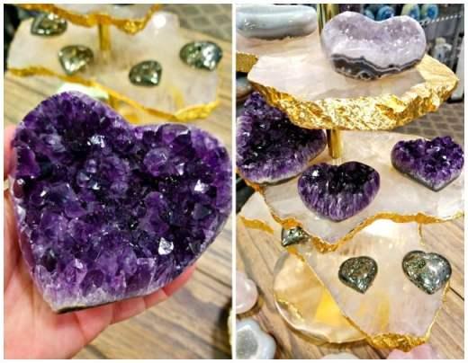 Olympus minerals - Amethyst Cluster Heart