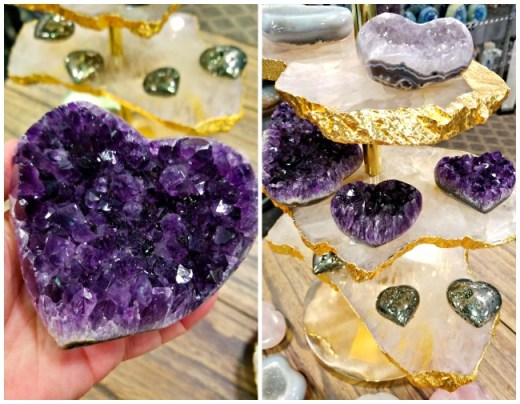 Olympus minerals - Amethyst Cluster Heart