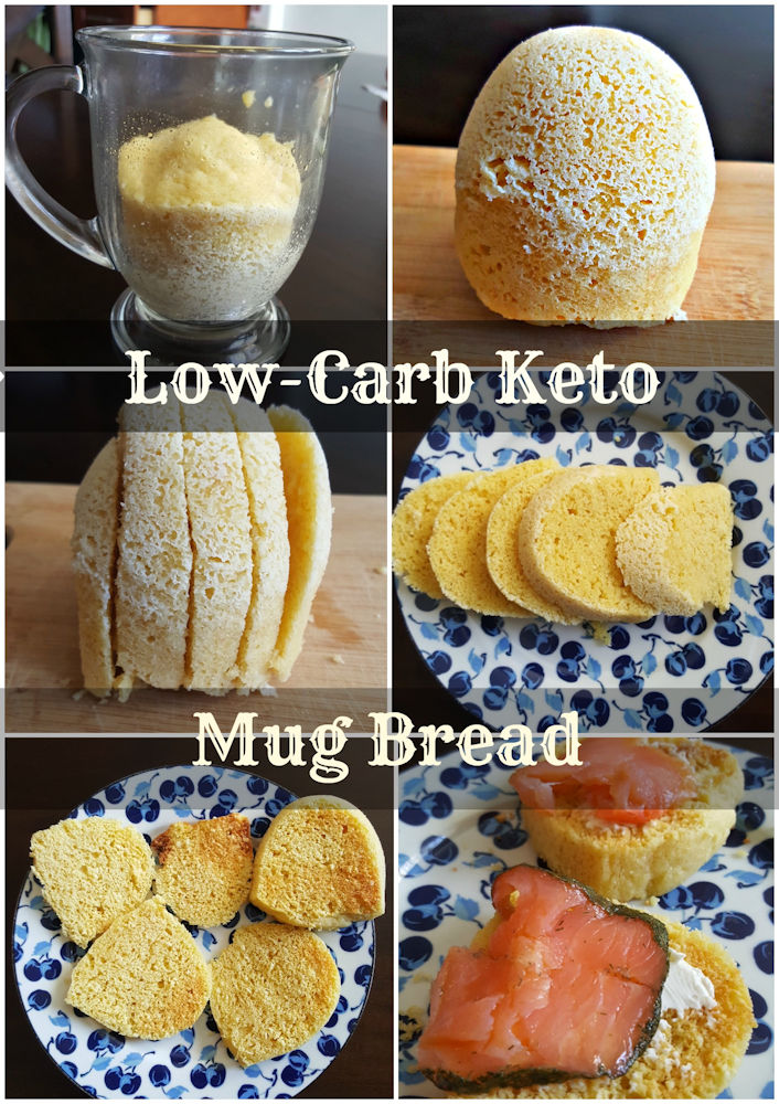 Best Low-Carb Keto Mug Bread, 90 seconds in microwave