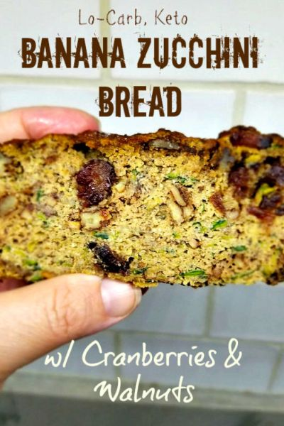 Low Carb Keto Banana Zucchini Bread