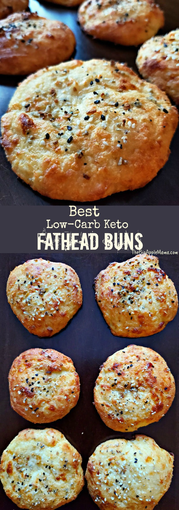 Best Low Carb Keto Bread buns or rolls made from Fathead dough