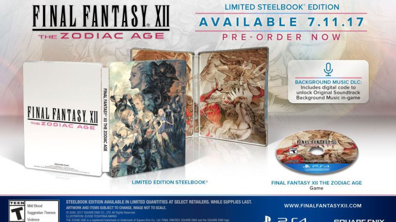 final fantasy xii zodiac steelbook