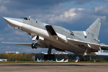 Soviet Tu-22 with bright underside.