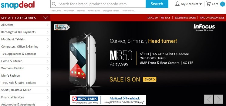 snapdeal Infocus M350