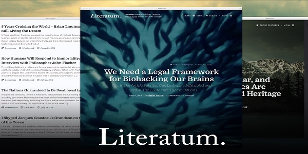 Literatum wordpress theme