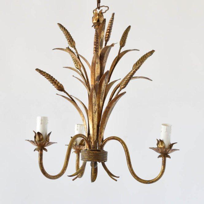 Italian Chandelier With Wheat Sheaf Motif