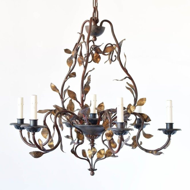 Italian Chandelier With Leaves