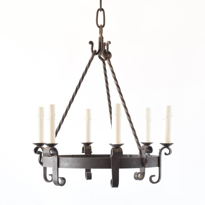 Simple Iron Ring Chandelier From Belgium
