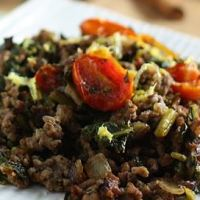Sukumi wiki - beef and collard greens