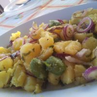 Potato salad with Pantelleria capers