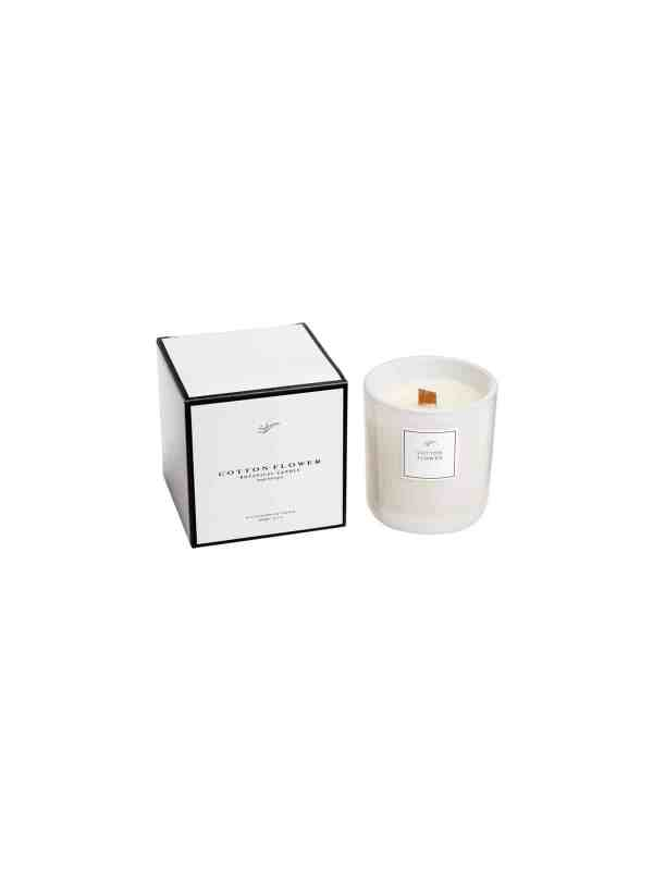 Eco Cadawick Candle - Cotton Flower