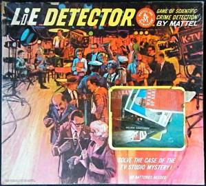 Lie Detector Tv Studio Mystery 1964 Mattel Mystery Theme The