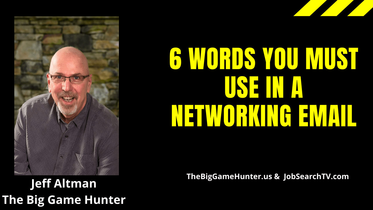 6 words you must use in a networking email