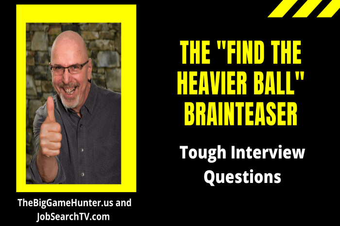 "The ""Find The Heavier Ball"" Brainteaser"