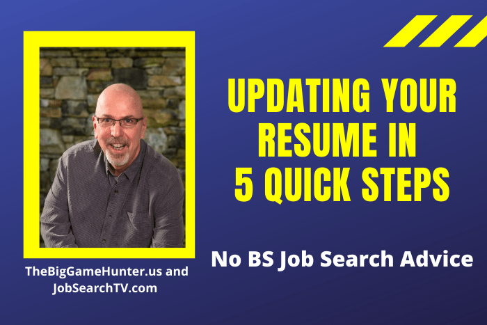Updating Your Resume in 5 Quick Steps