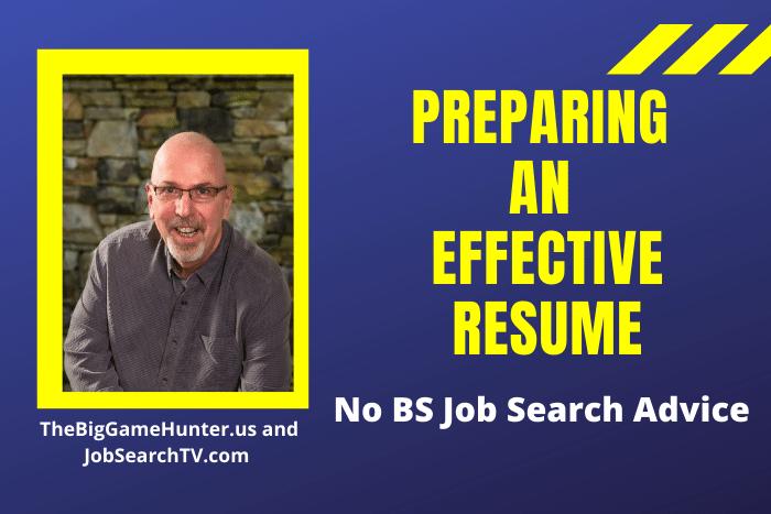 Preparing an Effective Resume