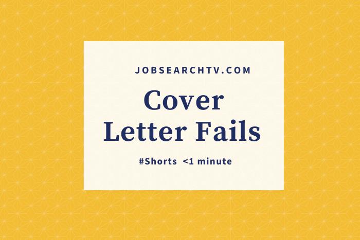 Cover letter fails
