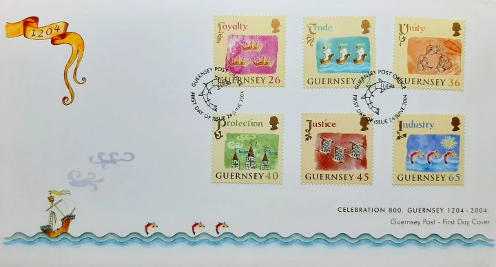 post stamps from Guernsey. Celebration 800. Guernsey 1204-2004