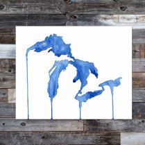 Great Lakes watercolor painting