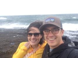Chelsea + John along Lake Superior