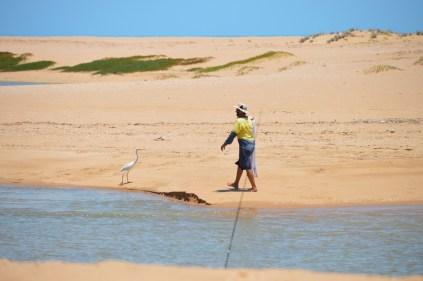 Tim catching bait