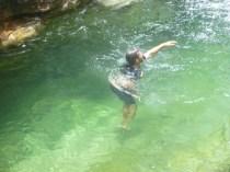 Timbo swimming