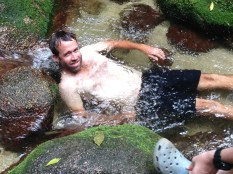 Timbo having a dip up at Mossman George