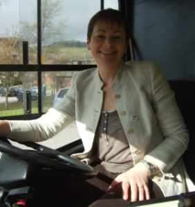 Caroline Lucas behind the wheel-1