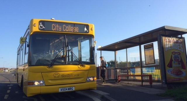 City College Brighton & Hove shuttle bus