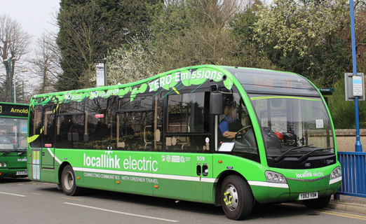 An Electric Bus similar to what we hope to operate in Brighton & Hove