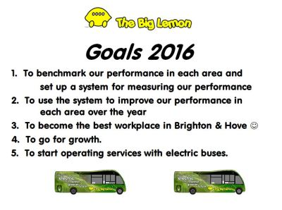 The Big Lemon Sustainable Bus Services & Eco Coach Hire - Goals 2016
