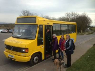 The Big Lemon bus for Sunday Walks - Brighton & Hove