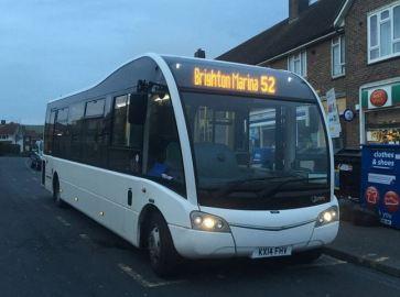 The Big Lemon Route 52 Bus Brighton & Hove