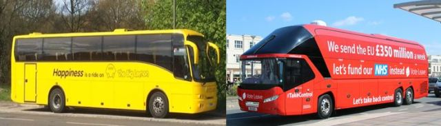 Head to Head: The Big Lemon and the Vote Leave battle bus