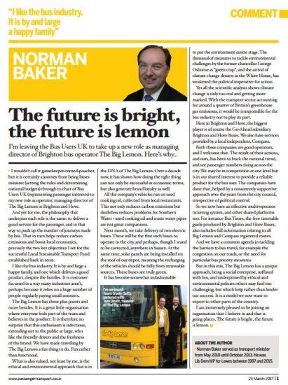 Passenger Transport article Norman Baker Big Lemon