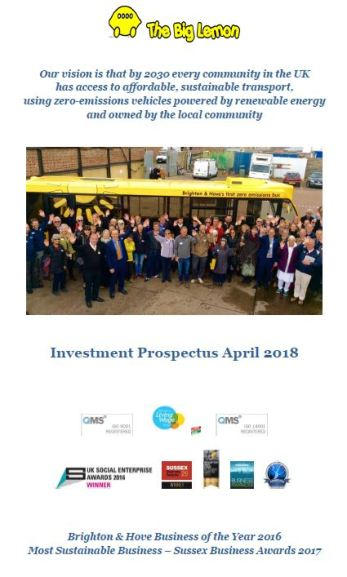 Solar Electric Bus Investment Prospectus