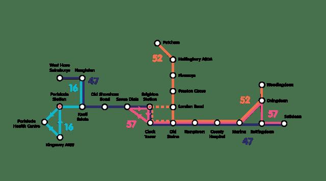 The Big Lemon bus routes in Brighton & Hove