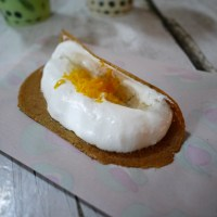 Food Friday - Crispy pancakes with sweet white filling (Khanom Buang)