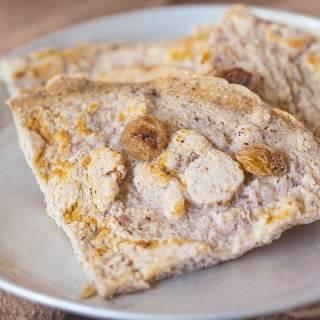 5 minute cinnamon raisin flatbread