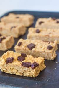 No Bake SunButter Granola Bars- Gluten Free and High Protein too! -thebigmansworld.com