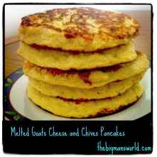 Melted Goat Cheese and Chives Pancakes (GF, High Protein, Sugar Free)