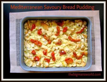 Mediterranean Savoury Bread Pudding (Gluten Free)