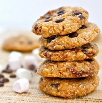 No Bake S'mores Protein Breakfast Cookies (Gluten Free + High Protein)- thebigmansworld.com