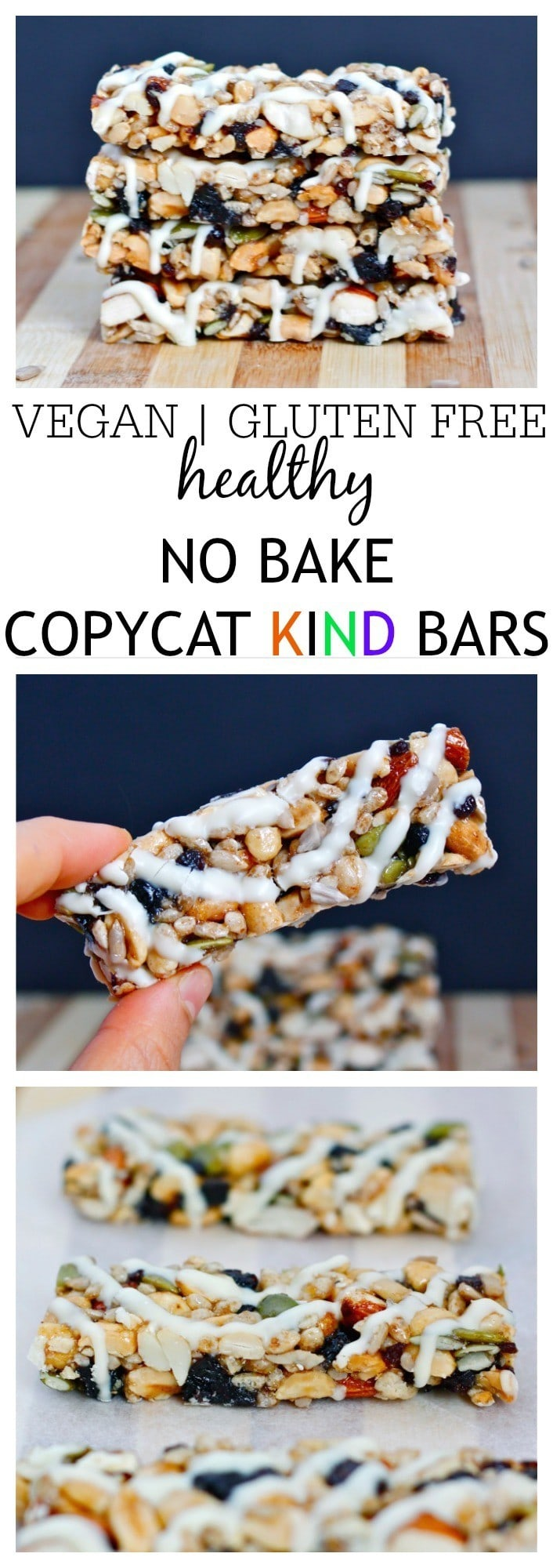 Healthy NO BAKE Copycat KIND Bars- These COPYCAT Kind Bars take 1 bowl and 10 minutes to whip up- They are also much cheaper than store bought and dare I say- More delicious than it's inspiration? Gluten free, vegan and with a protein optional boost! @thebigmansworld - thebigmansworld.com