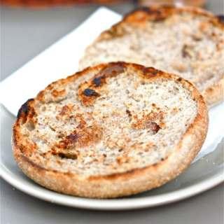 Microwave Cinnamon Raisin English Muffin