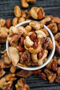 Sugar Free Caramelised Nuts (Gluten Free, Paleo, Vegan, Sugar Free)