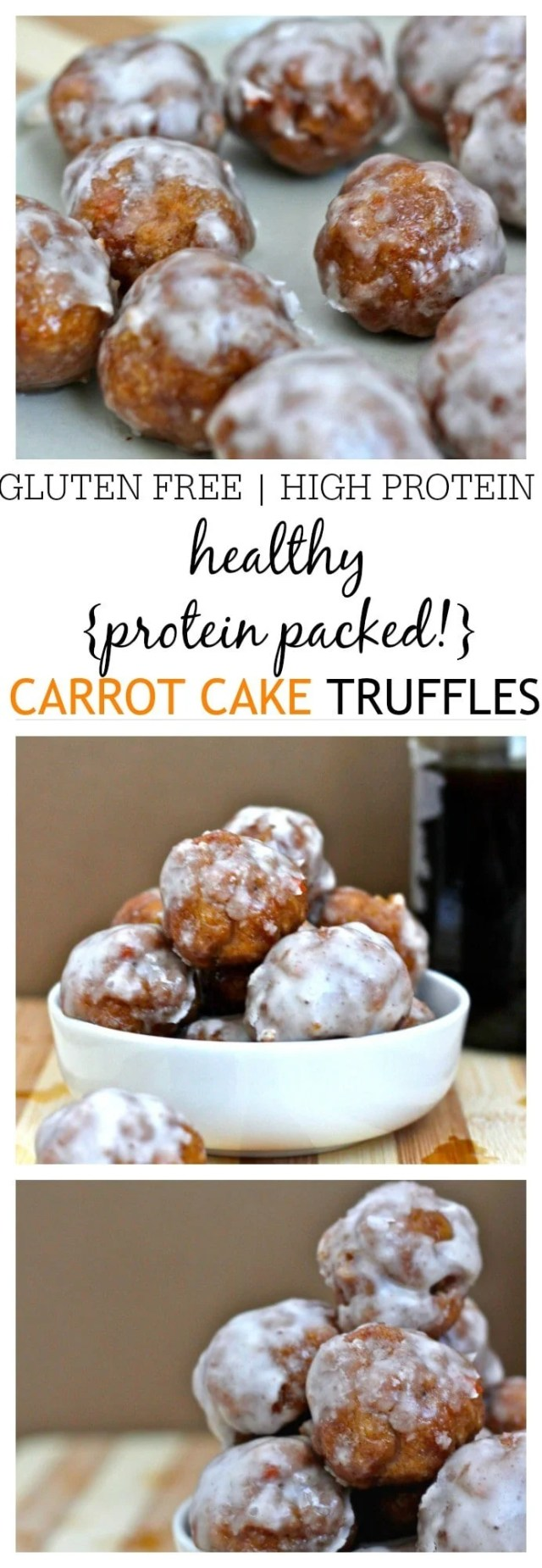 Healthy {Protein Packed} Carrot Cake Truffles- These healthy Carrot Cake Truffles are SO simple to whip up and you'd never tell they were nutritious! High in protein, very low in sugar and naturally gluten free, these are the perfect snack or pre/post workout treat! @thebigmansworld - thebigmansworld.com