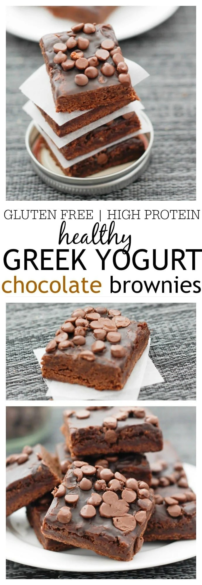 Healthy Greek Yogurt Chocolate Brownies- These extremely fudgey, moist and full of chocolatey goodness chocolate brownies are secretly healthy- Based off Greek Yogurt, they are also gluten free, high in protein and VERY low in sugar! @thebigmansworld - thebigmansworld.com